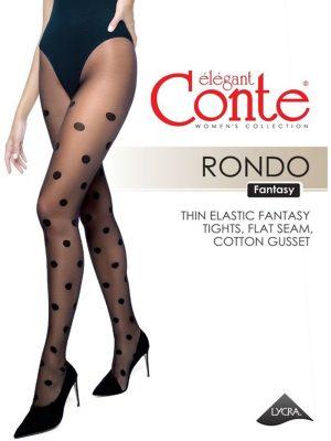 Ciorap cu model buline mari, Conte Fantasy Rondo