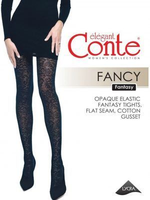 Ciorap cu model floral, Conte Fantasy Fancy