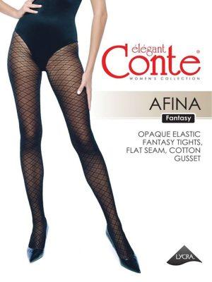 Ciorap cu model geometric, Conte Fantasy Afina