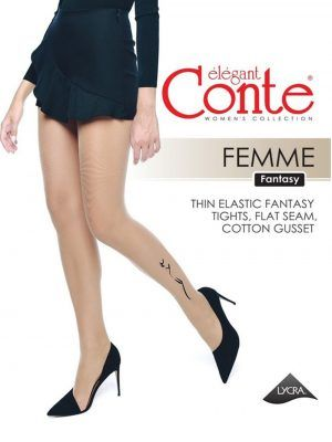 Ciorap cu model imitație tatoo, Conte Fantasy Femme
