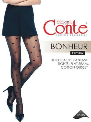 Ciorap cu model inimioare, Conte Fantasy Bonheur