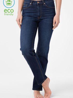 Blugi elastici eco-friendly, clasic Straight cu talie înaltă, Conte Con-156 eco-friendly