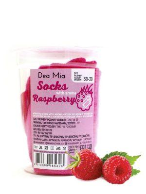 Șosete scurte (anklet) din bumbac cu arome, Dea Mia Active 1335 roz cu aroma zmeura