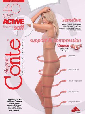 Ciorap compresiv și modelator Active Soft 40 Den (ambalaj nou)