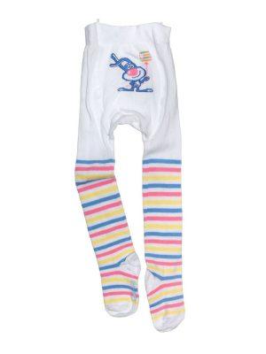Ciorapi copii din bumbac cu model iepuraș, Conte Kids Tip-Top 198 model alb