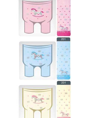 Ciorapi subțiri copii din bumbac cu model poni, Conte Kids Tip-Top 201