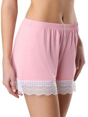 Pantaloni scurți din bambus cu dantelă, Conte Loungewear LHW 990 Model roz