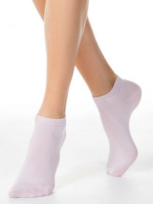 Șosete scurte (anklets) damă bumbac, Esli 19C-149CPE model roz
