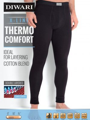 Colanți termo bărbați, Diwari Thermo Comfort MKT 583 Nero Ambalaj
