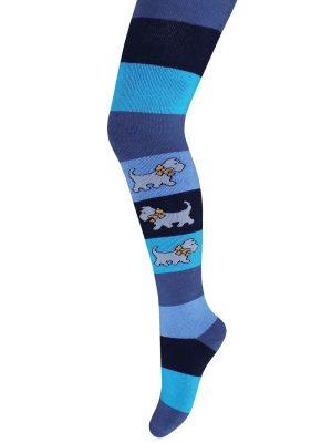Ciorapi flaușați din bumbac, cu model cațeluși, Bchk Kids 3265-878 jeans