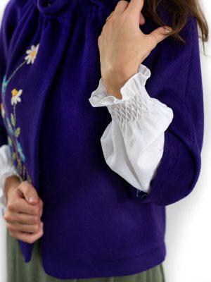 Jachetă damă captușită, brodată manual, IE011 model