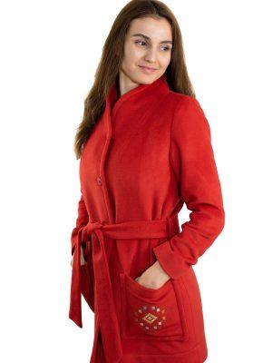 Palton damă captușit, H02 portocaliu model