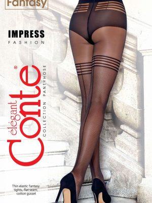 Ciorap cu model imitație bandă adezivă și plasă, Conte Fantasy Impress Ambalaj